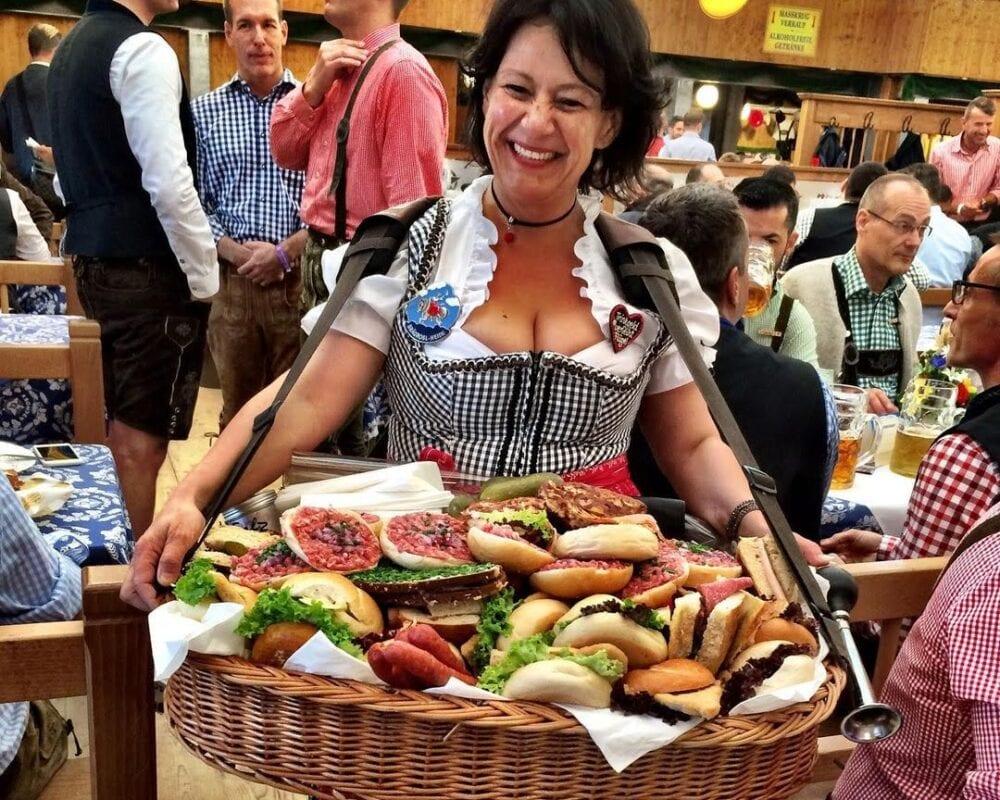 Oktoberfest carrying food basket