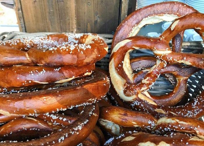 Freshly baked Pretzel in Munich