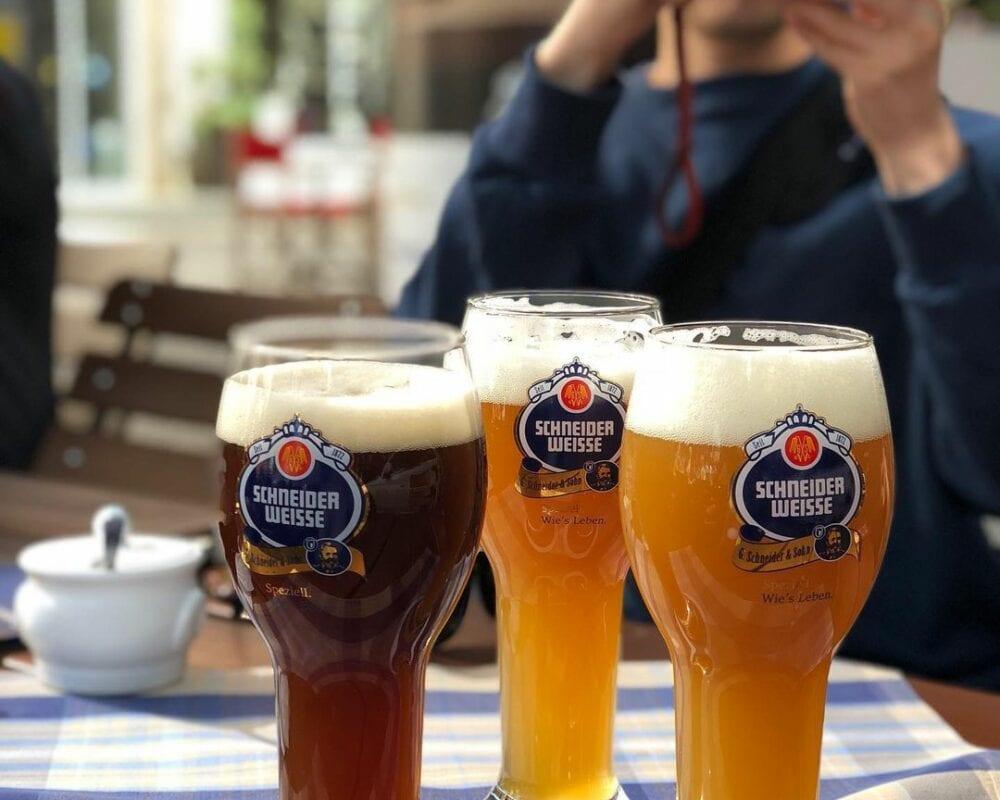 Taking photo of Schneider Weisse beer