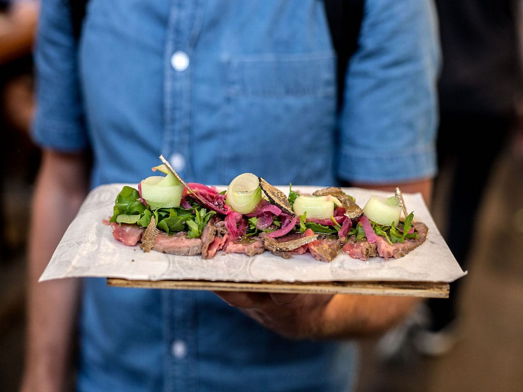 food market hall sliced beef platter
